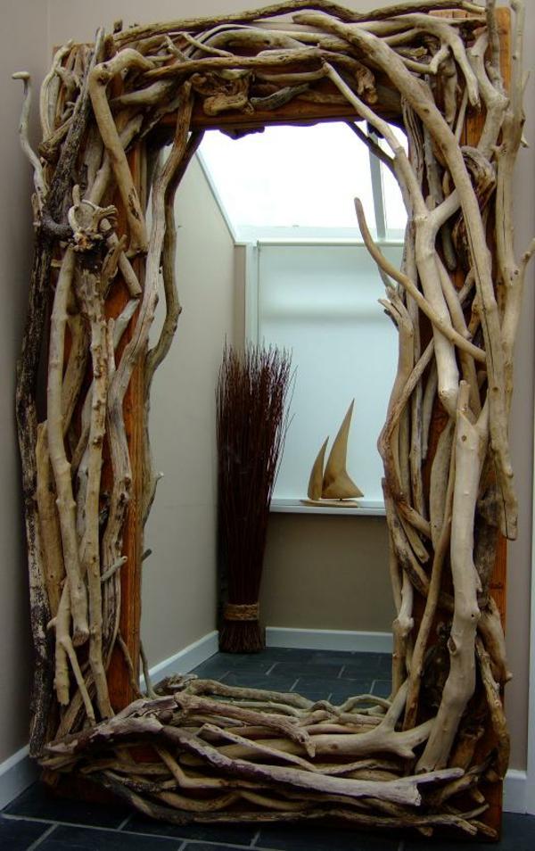 Diy ιδέες καθρέφτη από θαλασσόξυλα (36)