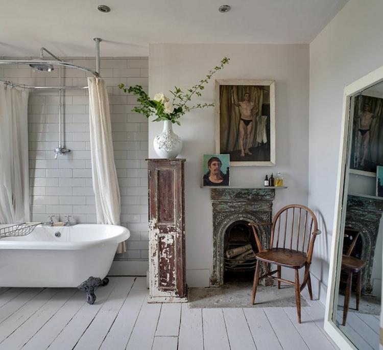 Shabby chic μπάνιο ιδέες8