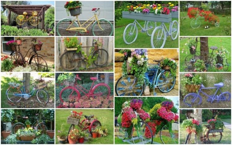 diy κήπου με παλιά ποδήλατα1