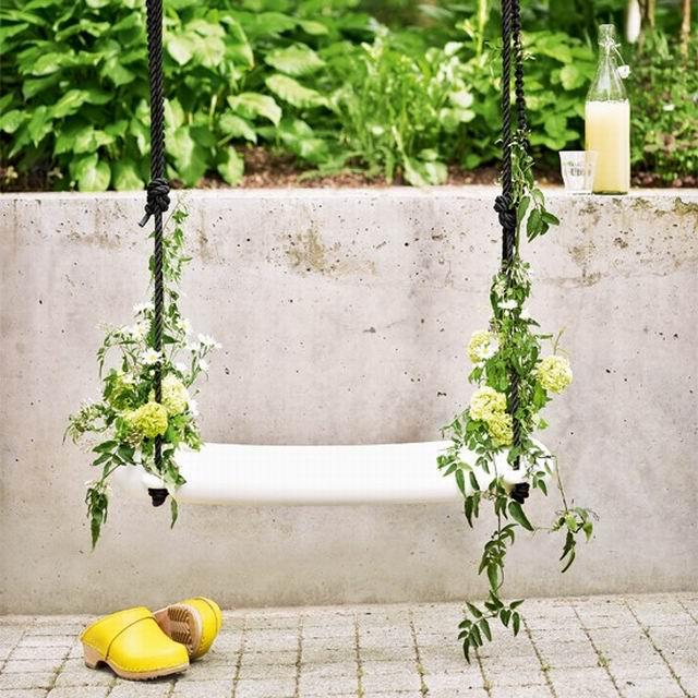 ιδέες διακόσμησης κούνιας με λουλούδια8