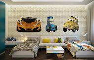 25 Ζωηρά παιδικά δωμάτια με τοίχους από τούβλα γεμάτα προσωπικότητα