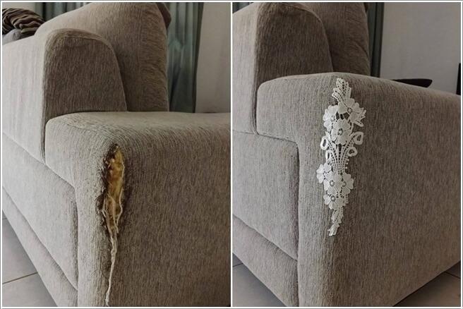Επιδιορθώσετε τον σχισμένο ή γδαρμένο από την γάτα καναπέ σας με στυλ