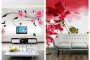 Floral τοιχογραφίες: Η τέλεια προσθήκη σε οποιοδήποτε σαλόνι
