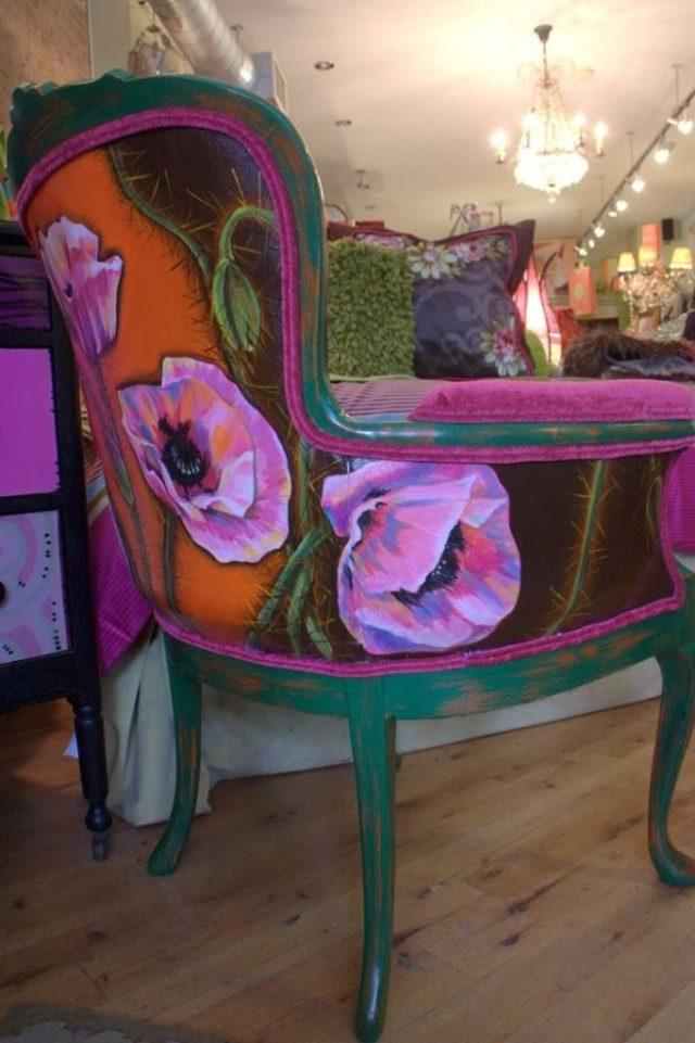 πώς να διακοσμήσετε και να βάψετε παλιές καρέκλες13