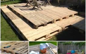 Πως να κάνετε μια καταπληκτική βεράντα με τέλειο δάπεδο χρησιμοποιώντας παλέτες