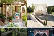Πού να οργανώσετε μια εξωτερική κρεβατοκάμαρα: 15 ιδέες