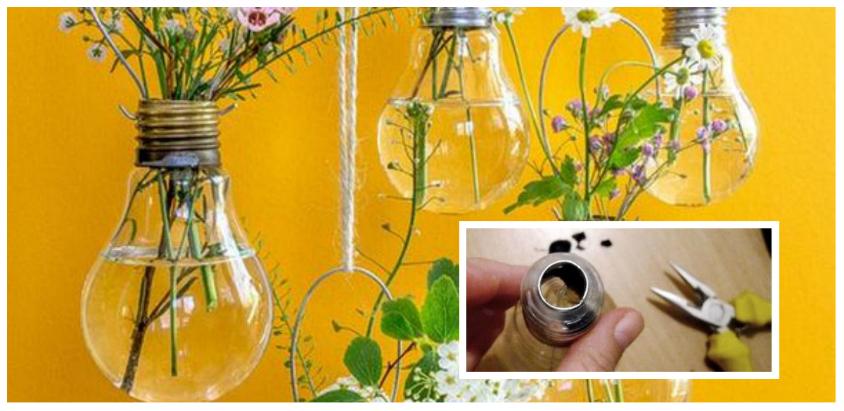 Υπέροχες diy διακοσμητικές ιδέες από παλιές λάμπες