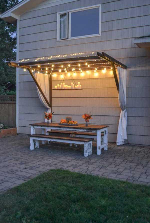DIY Ιδέες προσθήκης φωτισμού αυλής2