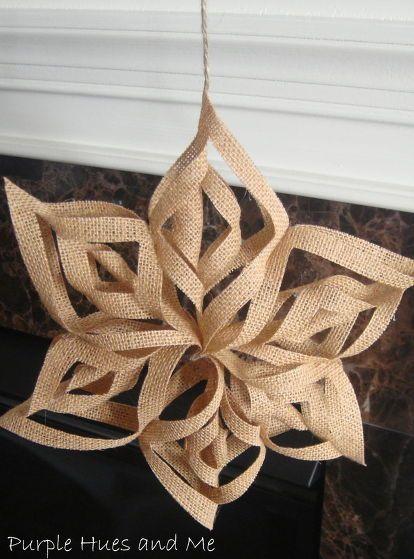Χριστουγεννιάτικα στολίδια από λινάτσα4
