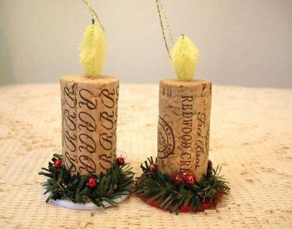 Χριστουγεννιάτικες διακοσμήσεις από πώματα φελλού18