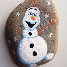 Χριστουγεννιάτικη ζωγραφική σε πέτρες και βότσαλα13