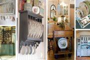 Υπέροχες αντικέ πιατοθήκες για την Vintage Κουζίνα σας