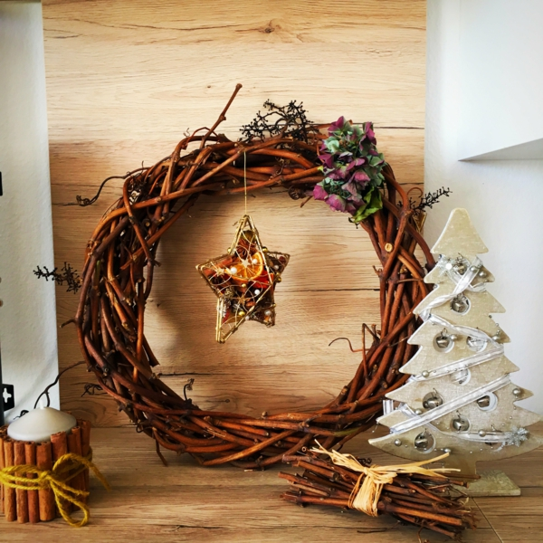 Rustic χωριάτικη Χριστουγεννιάτικη διακόσμηση26
