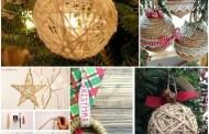 Πανέμορφα diy ρουστίκ Χριστουγεννιάτικα στολίδια από σπάγκο
