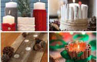 Ιδέες για Χριστουγεννιάτικη διακόσμηση με κεριά