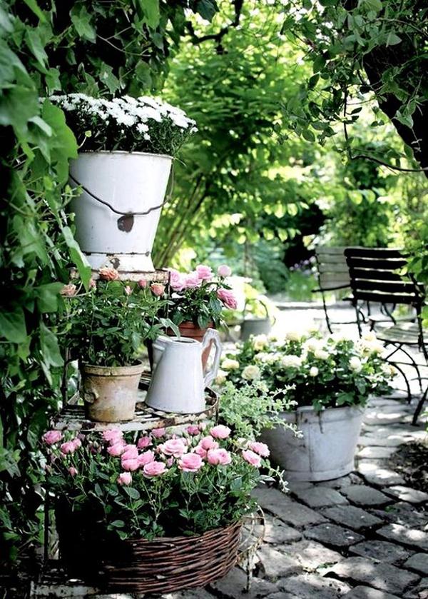 Shabby Chic ιδέες κήπου1