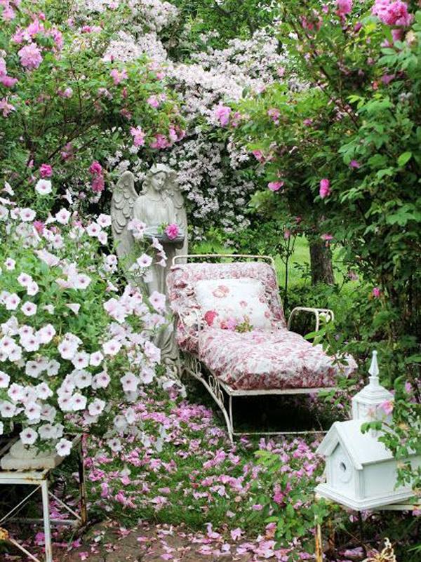 Shabby Chic ιδέες κήπου2