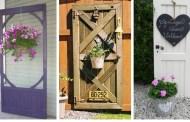 25+ Δημιουργικοί τρόποι χρήσης παλαιών πορτών για εξωτερικές διακοσμήσεις