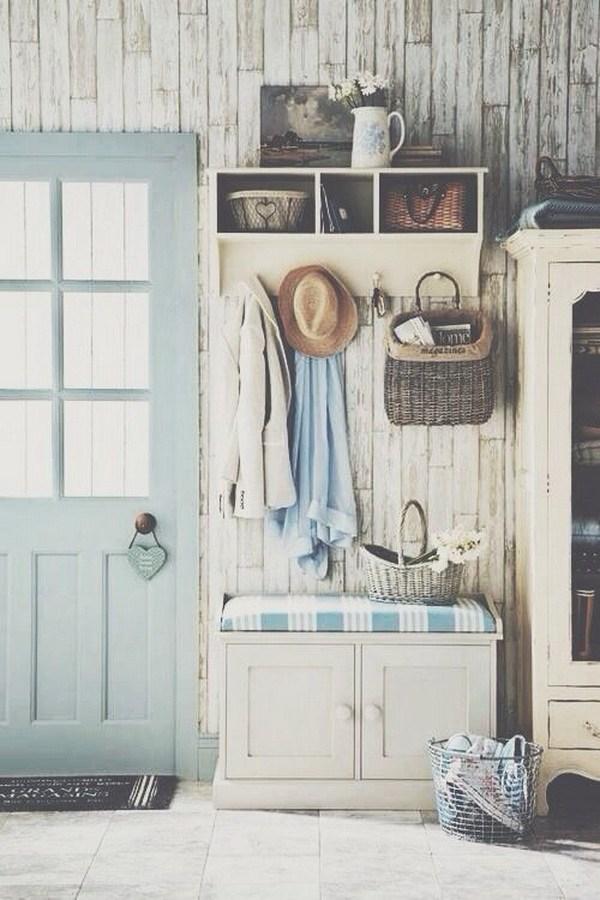 ιδέες χωριάτικης Shabby Chic διακόσμησης για την είσοδο του σπιτιού σας9