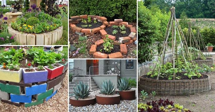 19 Απίθανες ιδέες για να δημιουργήσετε ένα στρογγυλό παρτέρι κήπου με ανακυκλωμένα πράγματα