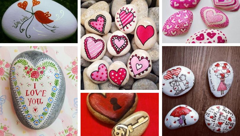Ζωγραφική σε πέτρες και βότσαλα - ρομαντικές DIY ιδέες για την ημέρα του Αγίου Βαλεντίνου