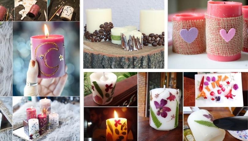 Ζεστή, χαλαρωτική ατμόσφαιρα με DIY ιδέες διακόσμησης κεριών