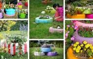 Καταπληκτικά DIY παρτεράκια και γλάστρες από παλιά ελαστικά – Απίθανες ιδέες για να απογειώσετε τον κήπο σας οικονομικά