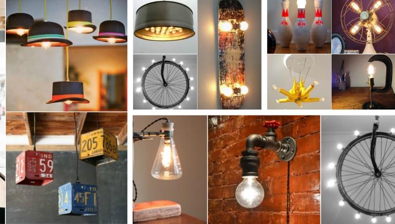 Ξεχωριστές DIY ιδέες για ασυνήθιστα φωτιστικά