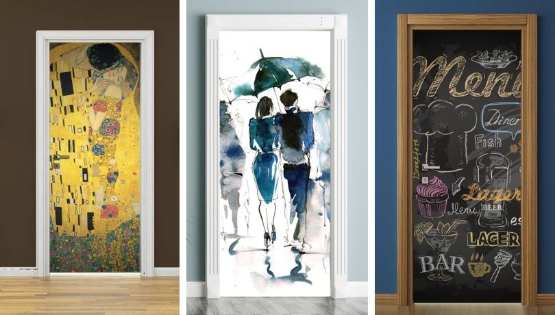 Αυτοκόλλητα πόρτας – καλύψτε φθορές, μετατρέψτε τις πόρτες σε διακοσμητικά στοιχεία
