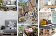 DIY Ιδέες με μικρούς καναπέδες από παλέτες για το μπαλκόνι την αυλή και το αίθριο - έμπνευση για σωματική και ψυχική χαλάρωση