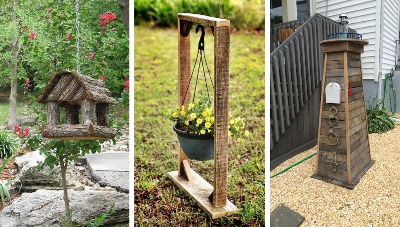 22 Εύκολες ανοιξιάτικες DIY ιδέες διακόσμησης  κήπου από ξύλο που φαίνονται φανταστικές