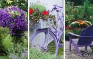 22 Φανταστικές διακοσμήσεις κήπου για όσους αγαπούν το μωβ χρώμα