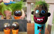 Πως να φτιάξετε υπέροχα DIY κεφάλια με γρασίδι ή άλλα υλικά - απλές ιδέες και οδηγίες