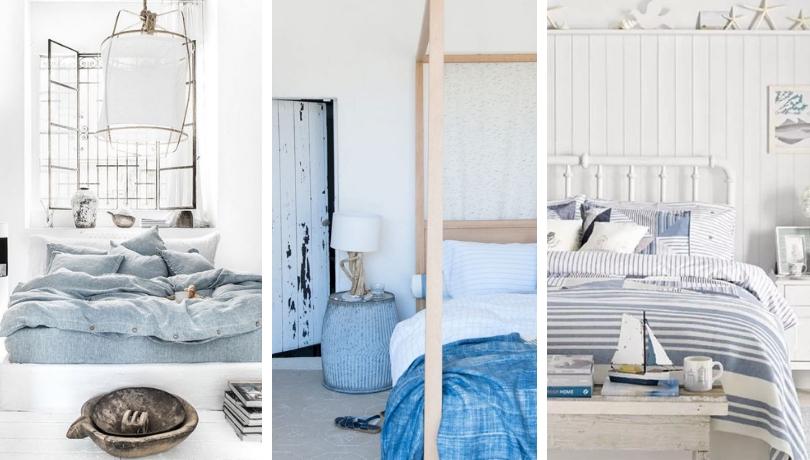 Θαλασσινή, νησιώτικη διακόσμηση κρεβατοκάμαρας - 45 μοντέρνες και δροσερές ιδέες έμπνευσης