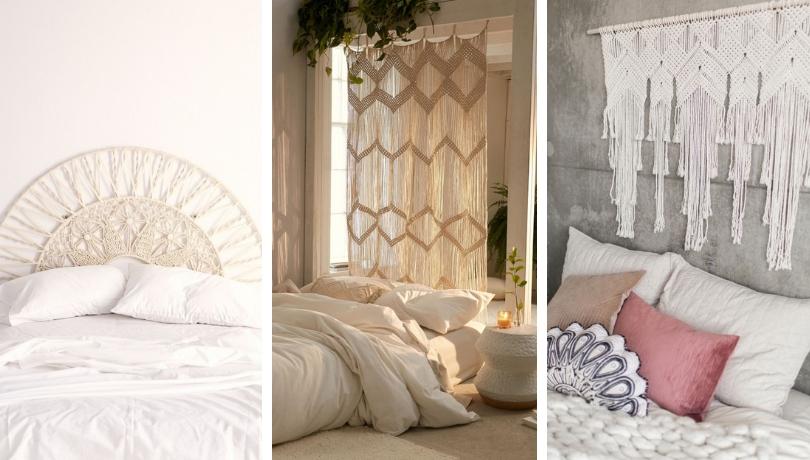 Macrame κεφαλάρι - 50+ ιδέες για να βελτιώσετε τη διακόσμηση στο υπνοδωμάτιο σας