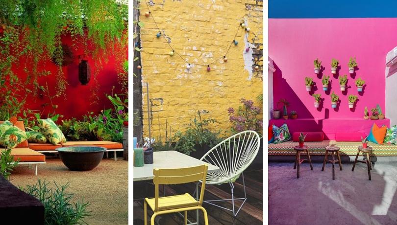 22 Διασκεδαστικές και τολμηρές ιδέες εξωτερικής διακόσμησης με έντονα χρώματα