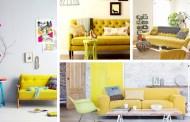 Πώς να διακοσμήσετε με και γύρω από έναν κίτρινο καναπέ σαλονιού