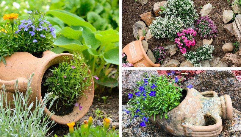 Πρωτότυπες ιδέες με πήλινα αγγεία για τον κήπο