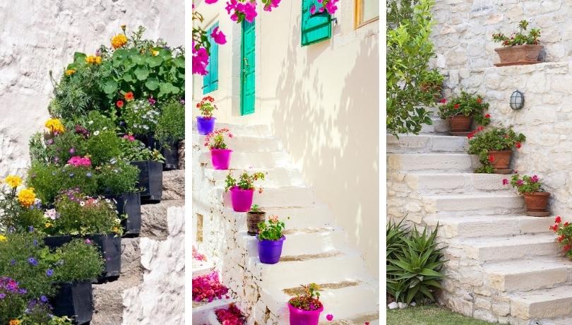 Διακοσμήστε τις εξωτερικές σκάλες με γλάστρες - 32 φρέσκες χωριάτικες ιδέες έμπνευσης που θα σας μαγέψουν