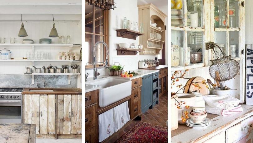 Πανέμορφες ιδέες με χωριάτικα ντουλάπια κουζίνας για έναν τέλεια άνετο χώρο μαγειρέματος
