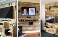 Έξυπνες DIY ιδέες με βάσεις και κονσόλες τηλεόρασης από ξύλινες παλέτες, για μια ρουστίκ εμφάνιση