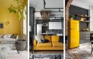 60 Μοδάτες ιδέες διακόσμησης με συνδυασμούς γκρι και κίτρινου - τα χρώματα της φετινής χρονιάς που αναζωογονούν κάθε χώρο