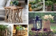 Φέρτε ένα κομμάτι της φύσης στο σπίτι σας - 36 υπέροχες DIY κατασκευές και ιδέες διακόσμησης με κορμούς και κλαδιά δέντρων