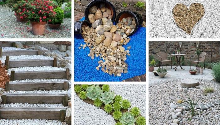 Πως να απογειώσετε τον σχεδιασμό του κήπου σας με χαλίκι: μονοπάτια, διακοσμήσεις και πολλές δημιουργικές ιδέες