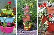 Δημιουργήστε έναν DIY πύργο λουλουδιών για μια καταπληκτική διακόσμηση κήπου