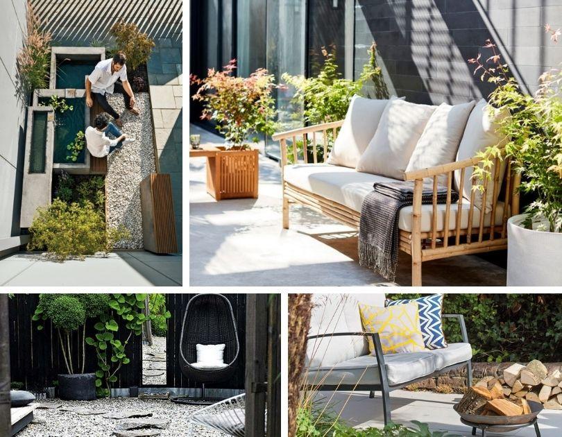 Zen ιδέες κήπου - δημιουργήστε ένα χαλαρωτικό καταφύγιο εξωτερικού χώρου για αποκατάσταση της ευεξίας