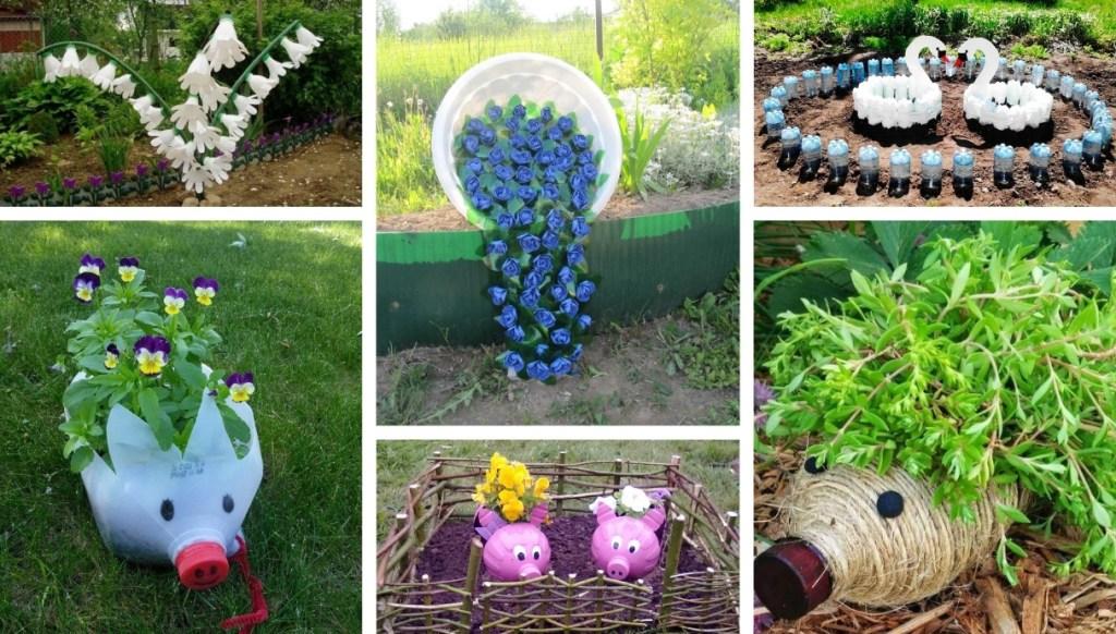 40 Απίθανες διακοσμητικές κατασκευές για τον κήπο από πλαστικά μπουκάλια