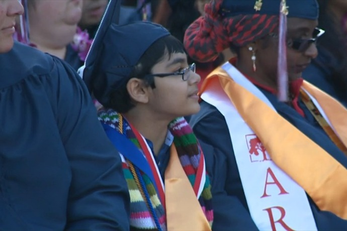 11-Year-Old Tanishq Abraham Graduates From California College_-3615707161978189051