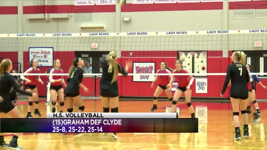 High School Volleyball: Clyde vs Graham - Sept. 12, 2017