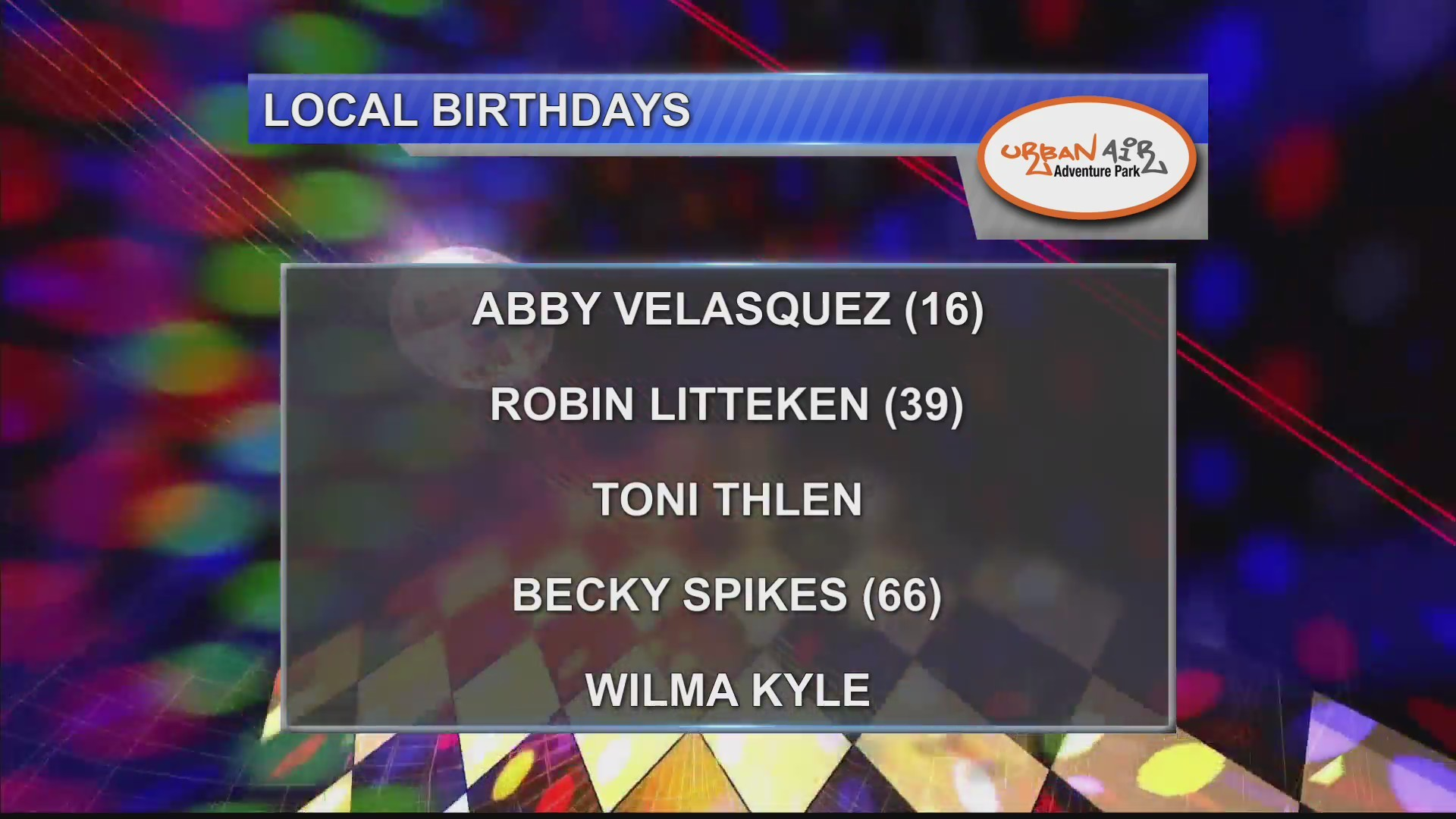 Birthdays & Anniversaries 9/27/18